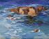 Rocky Waters by Jeanne Reavis
