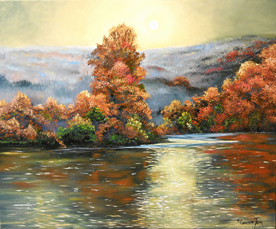 The Close of an Autumn Day - Oil