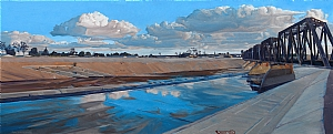 LA River I by Mary-Austin Klein Oil ~ 8.5 x 21
