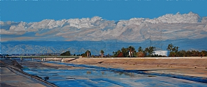 "LA River II by Mary-Austin Klein Oil ~ 8.5"" x 21"""