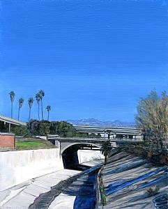 "Arroyo Seco by Mary-Austin Klein Oil ~ 5"" x 3"""