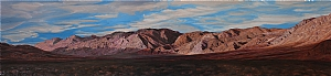 "Last Chance Mountains, Death Valley by Mary-Austin Klein Oil ~ 8"" x 35"""