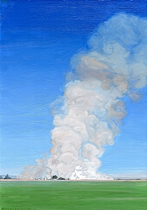 "Imperial County Fire by Mary-Austin Klein Oil ~ 12.25"" x 8.25"""