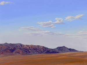 """Santa Rosa Mts. Anza Borrego - Print by Mary-Austin Klein Oil ~ 5"""" x 6.5"""""""