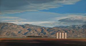 "Silos, Weedpatch Hwy by Mary-Austin Klein Oil ~ 9"" x 16.25"""