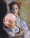 Deborah's Fan by Ellen Brown Oil ~ 20 x 16