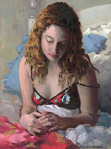 Red Nails by Ellen Brown Oil ~ 16 x 12