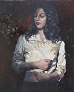 Silk Jacket by Ellen Brown Oil ~ 20 x 16