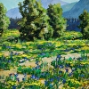 Eklutna Flats Iris by Don Kolstad Oil ~ 14 x 11