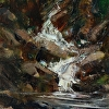 Emerald Creek Falls by Don Kolstad Oil ~ 10 x 8