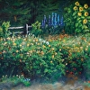 Golden Morning Flower Garden by Don Kolstad Oil ~ 24 x 36