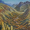 Arctic Valley Autumn by Don Kolstad Oil ~ 24 x 18
