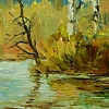 """Autumn Spring Study"" by Don Kolstad Oil ~ 9"" x 6"""