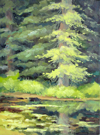 Quiet Water/ Plein Air - Oil