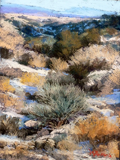 Arroyo Hondo Valley - Pastel