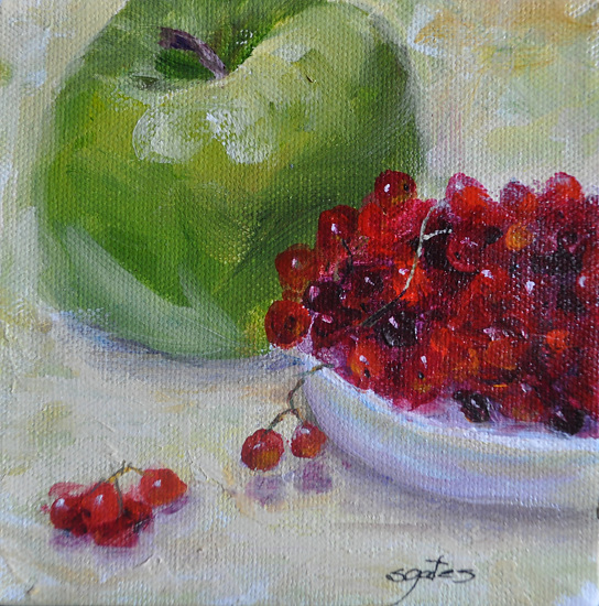 Granny Smith and Currants - Oil
