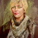 Deirdre Shibano - PASTEL PORTRAIT painting