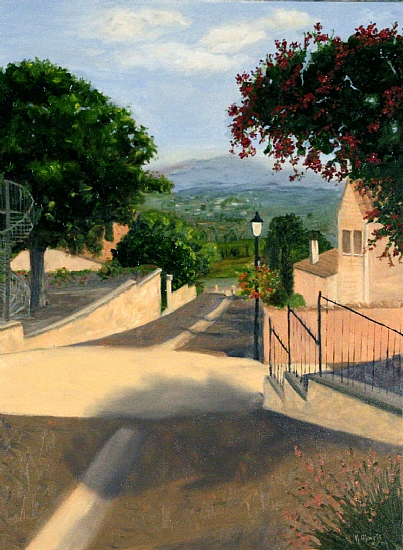 To Paul's - Le Barroux France - Oil