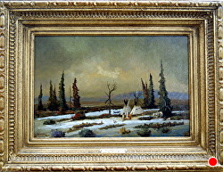 Winter Isolation -aSOLD -thru gallery by Bill Mittag Oil ~ 12 x 18