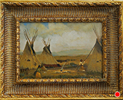 Prairie Camp Life -SOLD thru gallery by Bill Mittag Oil ~ 9 x 13