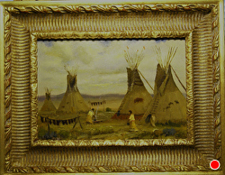 Women of the Plains - SOLD - thru gallery by Bill Mittag Oil ~ 9 x 13