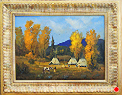 Autumn Celebration - SOLD - thru gallery by Bill Mittag Oil ~ 19 x 27