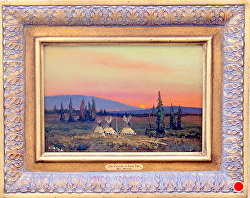 The Twilight of Their Time - SOLD -thru gallery by Bill Mittag Oil ~ 9 x 13