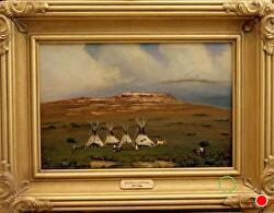 Children of the Prairie - SOLD - thru gallery by Bill Mittag Oil ~ 12 x 18