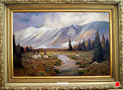 Majesty of the Rockies - S0LD - thru gallery by Bill Mittag Oil ~ 24 x 36
