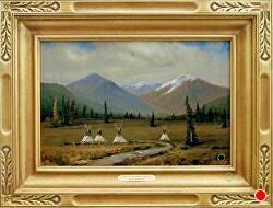 _TRADITIONS AND LEGENDS -SOLD - thru gallery by Bill Mittag Oil ~ 12 x 18