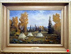AUTUMN OF LAKOTA by Bill Mittag Oil ~ 18 x 27