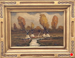 YEARS OF TIMES PAST - SOLD by Bill Mittag Oil ~ 12 x 18