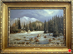 MID WINTER CAMP - sold - by Bill Mittag Oil ~ 24 x 36