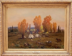 AUTUMN OF LAKOTA  available - thru gallery by Bill Mittag Oil ~ 22 x 29