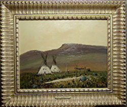 PRARIE ENCAMPMENT  available by Bill Mittag Oil ~ 16 x 20