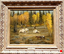 LAKOTA LAND IN AUTUMN  sold by Bill Mittag Oil ~ 16 x 20