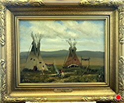 SUMMER PRAIRIE CAMP  sold by Bill Mittag Oil ~ 12 x 16