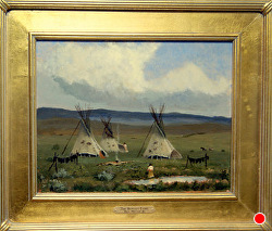 The Buffalo Land   oil on linen by Bill Mittag Oil ~ 11 x 14
