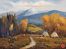 Before Times of the Yellow Stone Seekers oil on linen by Bill Mittag Oil ~ 30 x 40