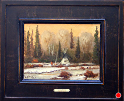 A Long Winter  oil on linen by Bill Mittag Oil ~ 9 x 12