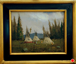 Land of the First People  oil on linen by Bill Mittag Oil ~ 11 x 14