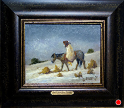 The Unforgiving Prairie oil on linen by Bill Mittag Oil ~ 8 x 10