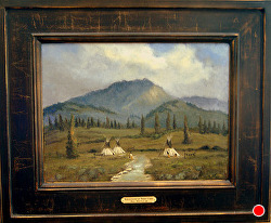 Reflection of their Camp oil on linen by Bill Mittag Oil ~ 12 x 16