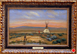 Life on the Plains   oil on linen by Bill Mittag Oil ~ 10 x 16