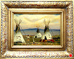 When the Land was Their's  oil on linen by Bill Mittag Oil ~ 9 x 13