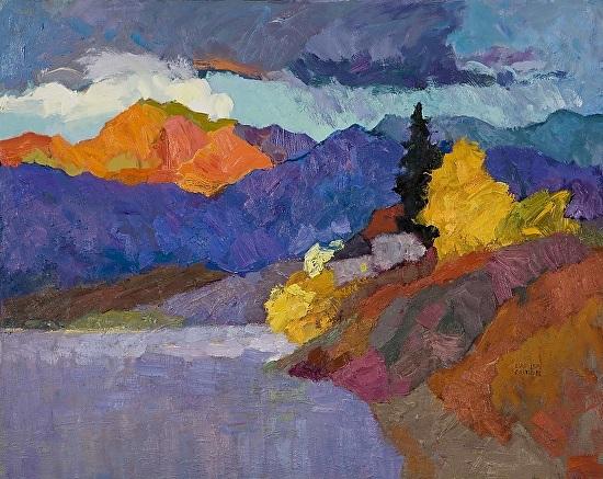 Larisa Aukon,The Moment In Stillness - Oil