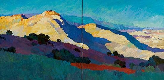 Larisa Aukon, Blue Skies - Oil