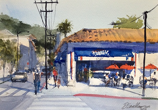 Paris Cafe - Watercolor