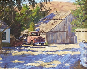 Old Truck, Old Barn by Scott W. Prior Giclee Print ~ 20 x 24