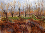 "Bleak Midwinter - WA Orchard by Sue Martin Acrylic ~ 14"" x 18"""